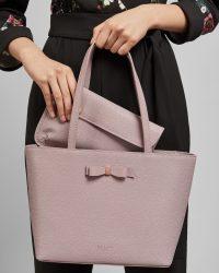 TED BAKER JJESICA Bow detail leather shopper bag