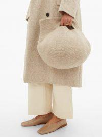 LAUREN MANOOGIAN Bowl wool bag in beige