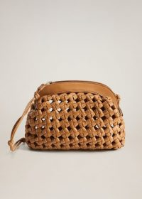 MANGO Braided design clutch medium brown REF. 67004464-SANDRA-LM