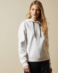 TED BAKER MYHA Branded hooded jumper