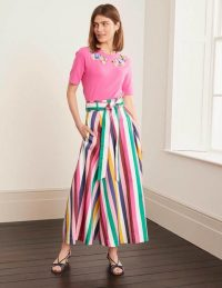 BODEN Brooke Belted Skirt – Blue And Formica Stripe / candy stripes / summer skirts
