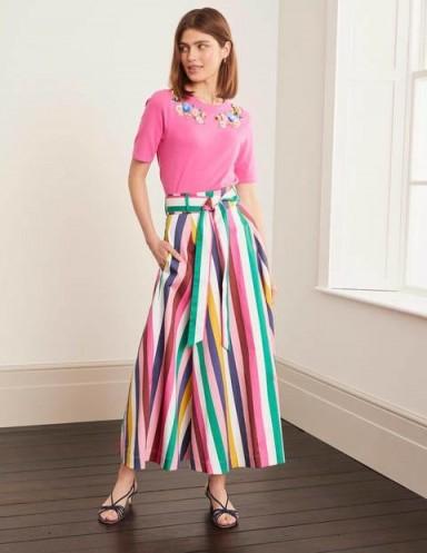BODEN Brooke Belted Skirt – Blue And Formica Stripe / candy stripes / summer skirts
