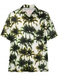 BUSCEMI palm print shirt / men's shirts