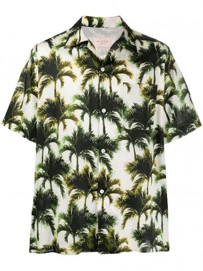 BUSCEMI palm print shirt / men's shirts