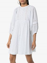 BYTIMO lace-trimmed floral-print cotton mini dress