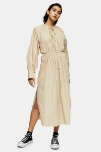 Camel Smock Dress By Topshop Boutique