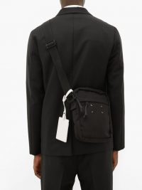 MAISON MARGIELA Black canvas cross-body bag