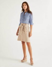 BODEN Cecily Skirt Soft Stone / neutral summer skirts
