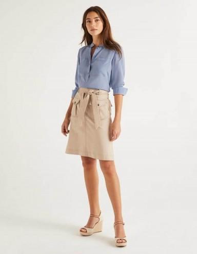 BODEN Cecily Skirt Soft Stone / neutral summer skirts
