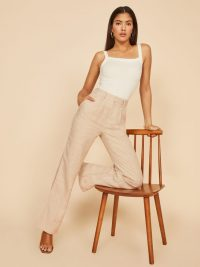 REFORMATION Cello Pant Oatmeal ~ neutral summer pamts