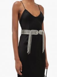 CHRISTOPHER KANE Chain-embellished leather belt ~ luxe belts ~ statement accessory