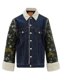 MARTINE ROSE Chinese-jacquard denim jacket / men's outerwear