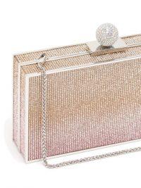 SOPHIA WEBSTER Clara pink crystal-embellished box clutch