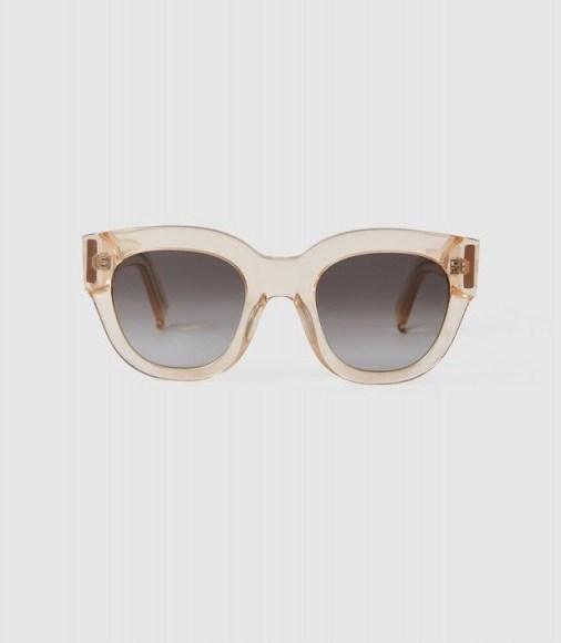 CLEO MONOKEL EYEWEAR ACETATE SUNGLASSES CHAMPAGNE / vintage-look summer accessory - flipped