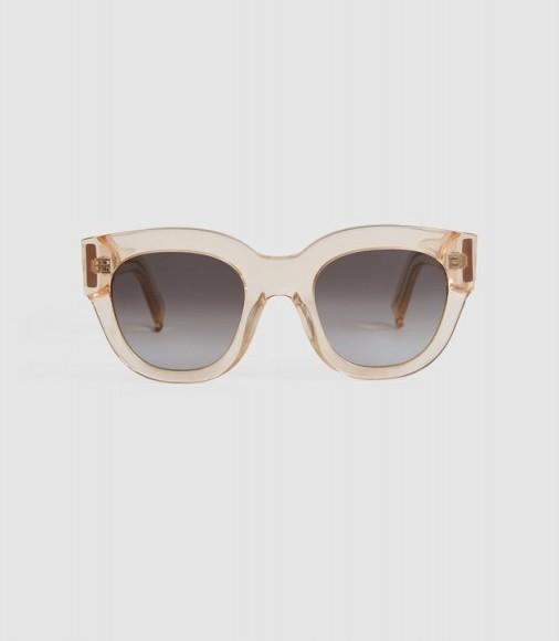CLEO MONOKEL EYEWEAR ACETATE SUNGLASSES CHAMPAGNE / vintage-look summer accessory