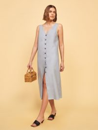REFORMATION Cliff Dress in Mineral ~ sleeveless relaxed fit dresses