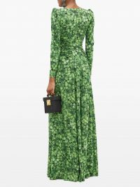 DOLCE & GABBANA Clover-print silk-blend crepe gown – matches fashion