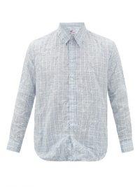 MARTINE ROSE Creased checked poplin shirt / mens shirts