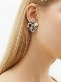 ERDEM Crystal-embellished loop earrings