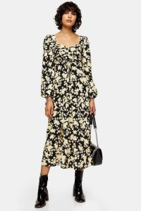 Floral Dresses – TOPSHOP Daisy Print Pleated Bust Dress