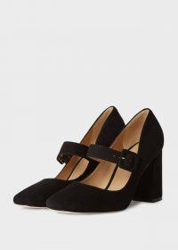 HOBBS DARCIE COURT BLACK / block heel Mary Jane shoes