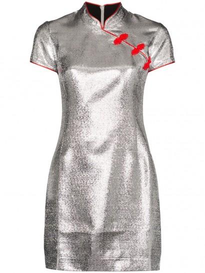 DE LA VALI Suki metallic mini dress ~ oriental inspired clothing