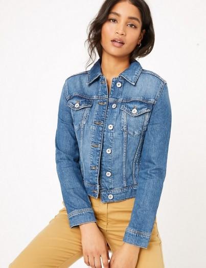 M&S COLLECTION Denim Jacket with Stretch Indigo / classic jackets
