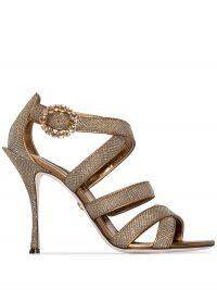 DOLCE & GABBANA Keira 105mm glitter-effect sandals / glittering heels