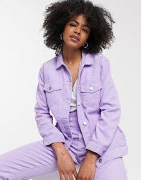 Dr Denim cord trucker jacket in lilac
