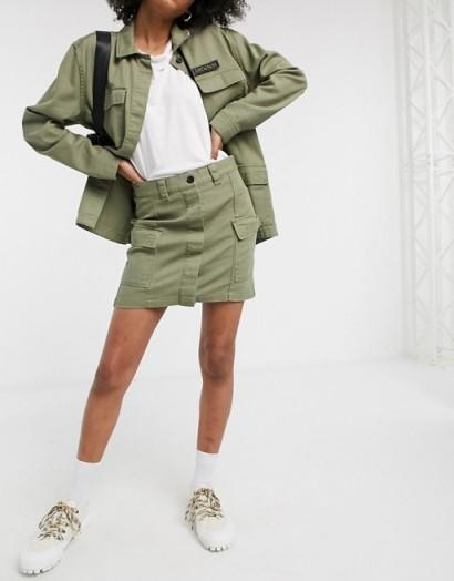 Dr Denim utility pocket skirt ~ utilitarian fashion