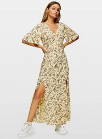 Miss Selfridge ELENA Button Maxi Dress | floral double-split frock