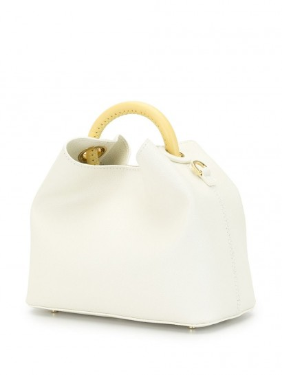 ELLEME Baozi white-leather shoulder bag / small chic top handle bags