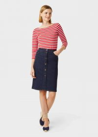 Hobbs EMMELINE SKIRT in Indigo / casual pencil skirts