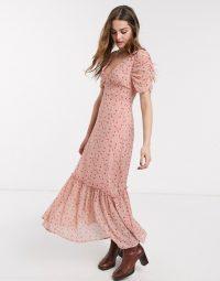 Emory Park maxi tea dress in vintage pink floral / romantic fashion