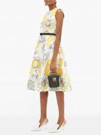 ERDEM Farrah belted floral fil-coupé dress – matches fashion