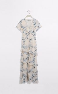 OASIS FLORAL RUFFLE MAXI DRESS