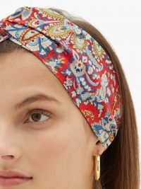 ETRO Floral-print crepe headband | wide printed headbands