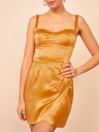 Reformation Fonda Dress in Ochre
