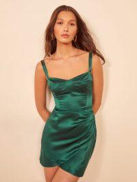 Reformation Fonda Dress in Emerald
