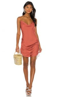 Day To Night Slip Dress in Pink | side ruched cami dresses