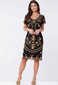 Modern Flapper Dress – Gatsbylady Florence Flapper Dress in Black – Little Black Dress