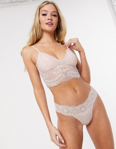 Gilly Hicks fine lace long line bralet - flipped