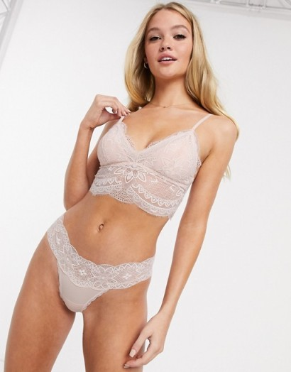 Gilly Hicks fine lace long line bralet