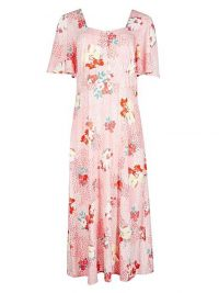 OLIVER BONAS Ginny Floral Print Pink Midi Dress