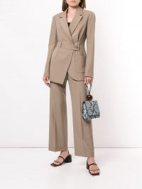 GOEN.J asymmetric wrap blazer / contemporary jackets