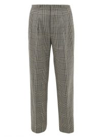 KING & TUCKFIELD Grant checked straight-leg cotton trousers