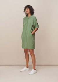 WHISTLES CELESTINE DRESS GREEN