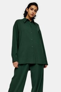 Green Oversized Shirt By Topshop Boutique