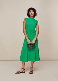 WHISTLES PENNY BELTED DRESS GREEN