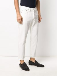HARMONY PARIS slim-fit straight-leg jeans / men's white demin